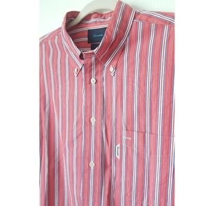 Faconnable Striped Cotton Button-down Shirt XL